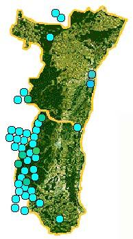 Carte Lacs Alsace.Lacs